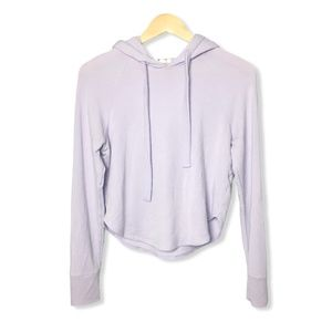 Garage Cropped Hoodie in Lilac Purple | Small